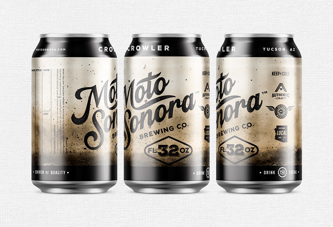 Moto Sonora Brewing Co Crowler Label