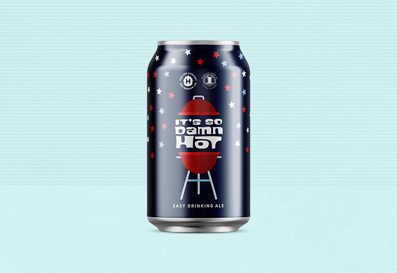 Hop Concept - It's So Damn Hot Beer Can Design
