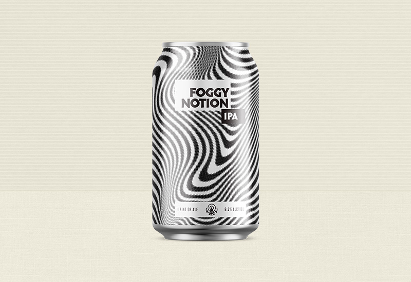 Stereo Brewing Foggy Notion IPA Can Design