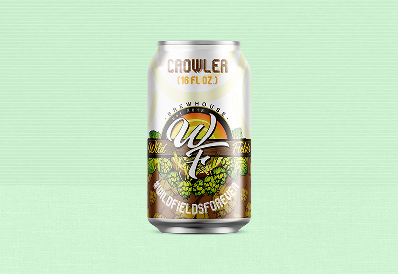 Wild Fields Brewhouse Crowler Design