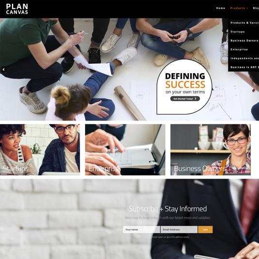 Plan Canvas Website